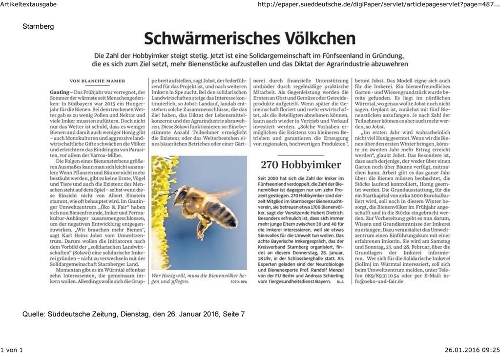 SZ STA 26.01.16 Schwärmerisches Völkchen
