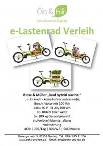 Flyer Lastenrad-Verleih